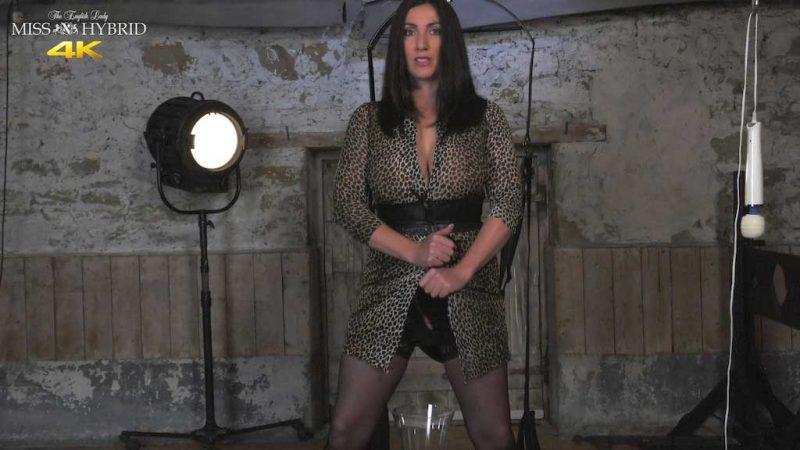 Miss Hybrid busty, cleavage dungeon pee, kinky mistress.